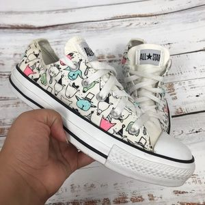 Converse Unique Cats and Dog Print Shoes
